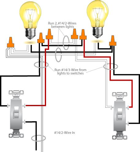 three way light switch electrical diagram three free