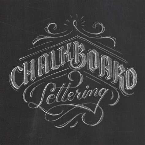 chalk lettering 101 an introduction to chalkboard lettering illustration design and more books chalkboard lettering on behance