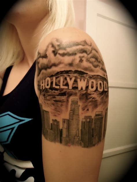 la skyline tattoo los angeles angeles and on
