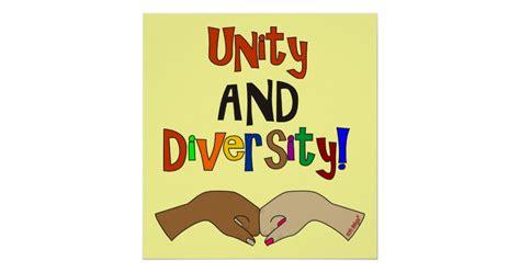 diversity posters zazzle unity and diversity poster zazzle