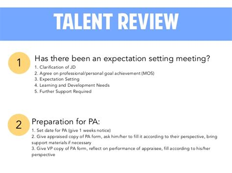 Talent Review 101 Talent Review Template