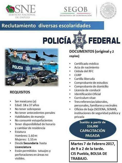 polica federal convocatoria 2016 requisitos polic 237 a federal lanza convocatoria de ingreso salario de