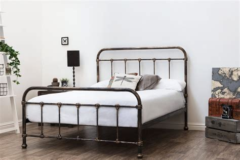 Rustic Metal Bed Frames by Burford Rustic Antiqued Hospital Style Metal Bed