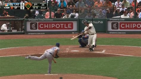 bumgarner hit a home run clayton kershaw