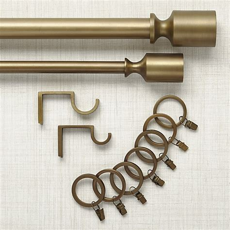 crate and barrel curtain rods barnes antiqued brass curtain hardware crate and barrel