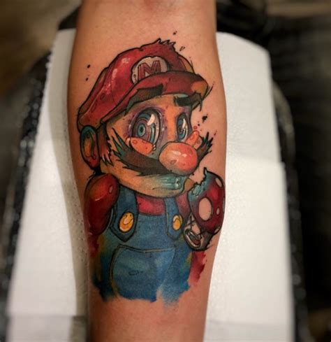 cartoon tattoo artist nyc cartoon inspired watercolor tattoos by brasilian artist