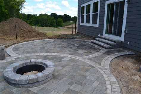 Stone Fire Pit Ideas Rosemount Mn Devine Design Hardscapes Pit On Patio Pavers