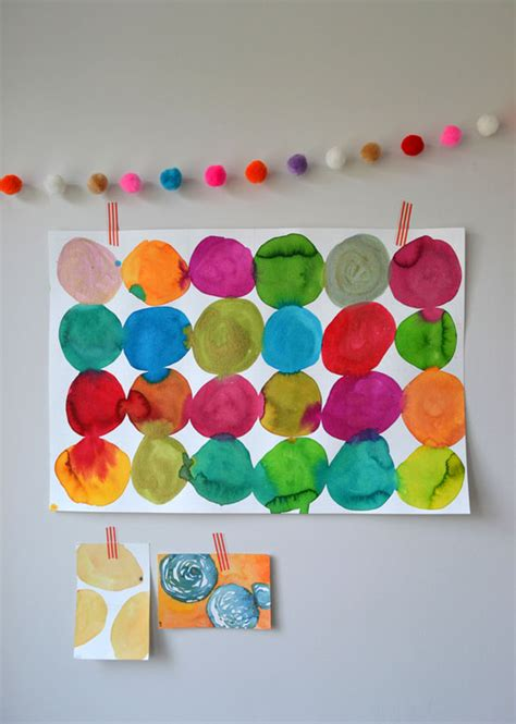 painting toddlers diy circle painting for kandinsky lessons with