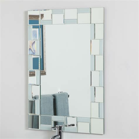 contemporary 31 5 x 23 6 inch rectangle bathroom mirror