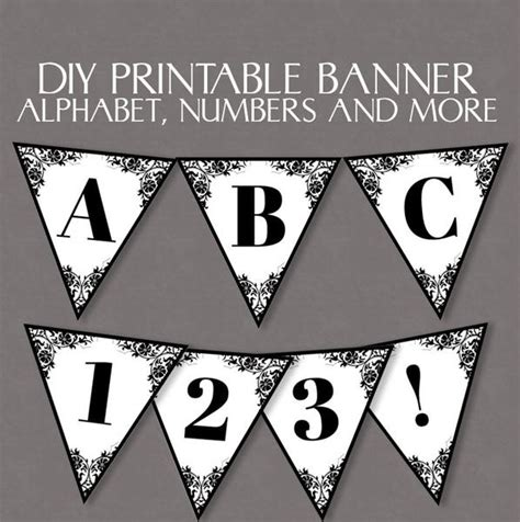 printable bunting letters printable lace bunting full alphabet and number pixels