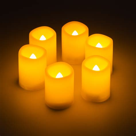 battery operated flickering lights 6x new flameless flickering led tea light battery