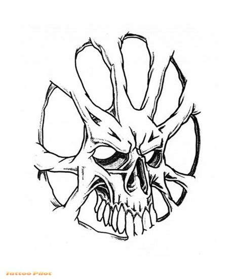 skull tattoo stencils cliparts co