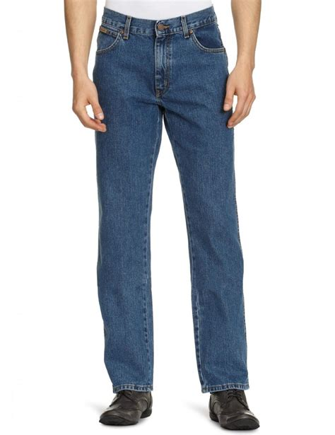 Wrangler Standart Garment wrangler stonewash blue s new regular fit denim ebay