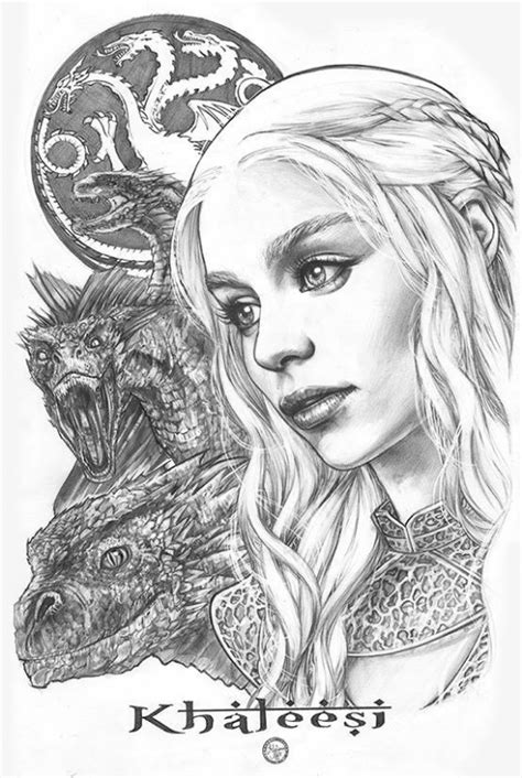 thrones coloring book ebay daenerys targaryen of thrones by melo in