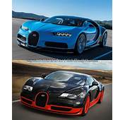 Bugatti Veyron Vs Chiron  In Images