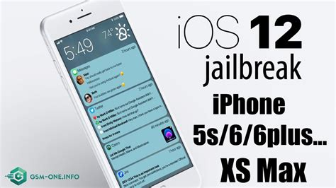 how jailbreak iphone 5s 6 6plus xs max ios 12