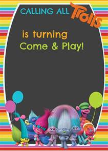 free trolls digital invitation how to make with picmonkey template included