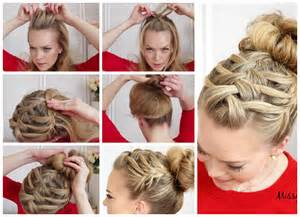 how to braid hair step by step triple french braid with double waterfall hairstyle