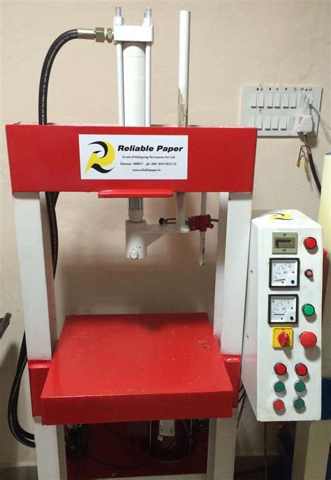 Paper Plates Machine - semi automatic hydraulic paper plate machine