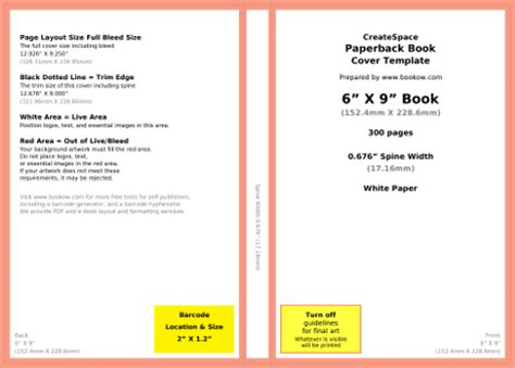 Bookow Free Resources Picture Book Template For Createspace