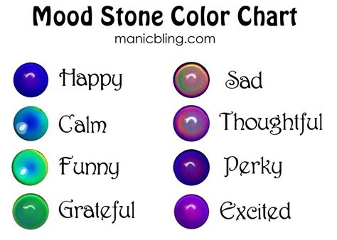 mood ring colors meaning mood color meaning mood ring color meanings bracelet tool