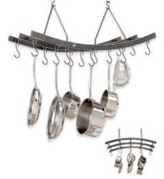 Large Hanging Pot Rack Large Hanging Basket Pot Rack Hammered Steel In Hanging