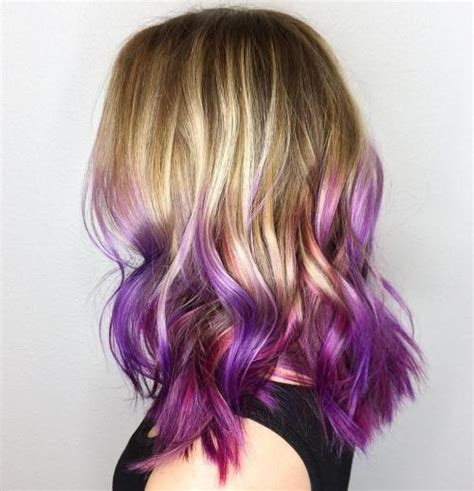 purple shoo for purple highlights purple ombre hair ideas plum lilac lavender and violet