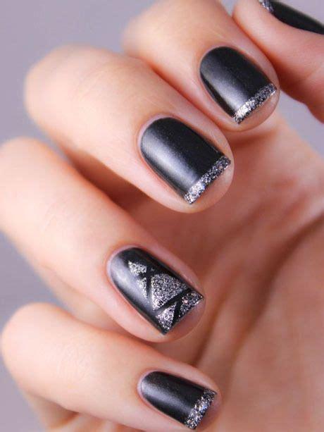 Deco Ongle Argent by Les Ongles Black Glitter Argent M A K E U P N A I L