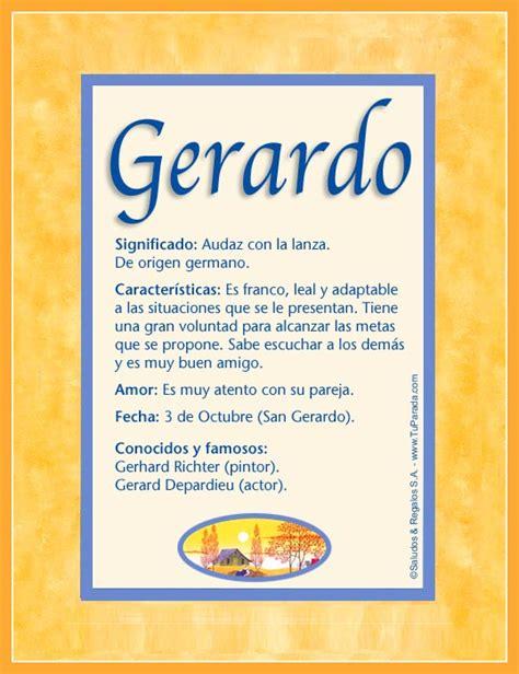 imagenes el significado de nombre alfredo gerardo significado del nombre gerardo nombres