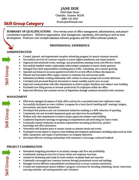 Resume With Skills Listed Resume Skill Writing