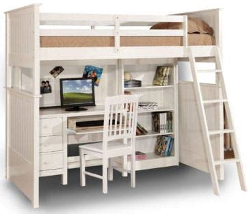 white loft bunk bed with desk trendy practical and