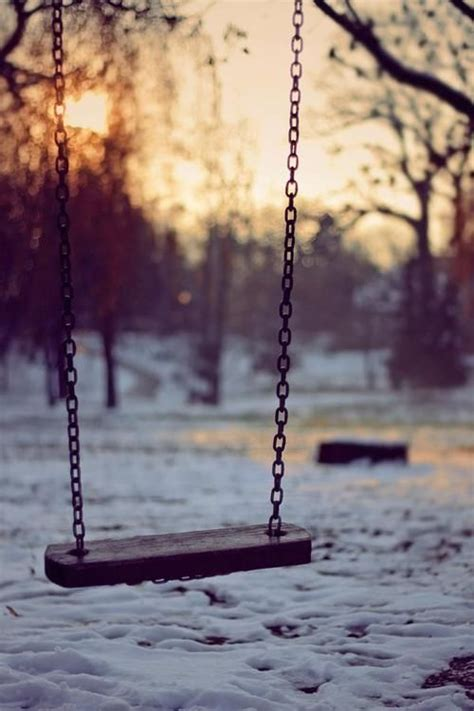 empty swing empty swing setting sun snow beyou tiful photography