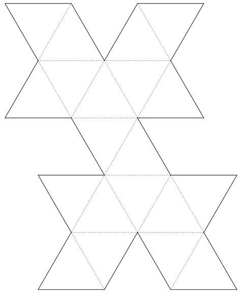 icosahedron template file geometric net of a regular icosahedron svg