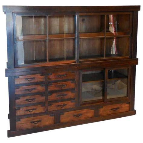 Unique Sliding Glass Door Cabinet Th Century Antique