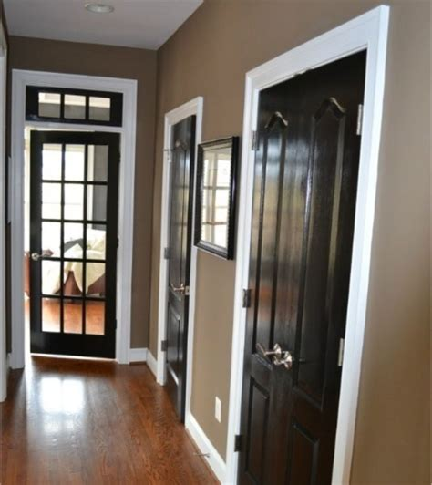 beige walls white trim black doors home decor doors black doors and black