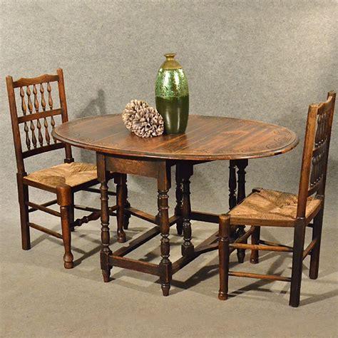 antique oak dining kitchen table small gateleg drop leaf