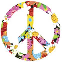 peace sign wall stickers floral peace sign symbol vinyl wall art decal decor sticker