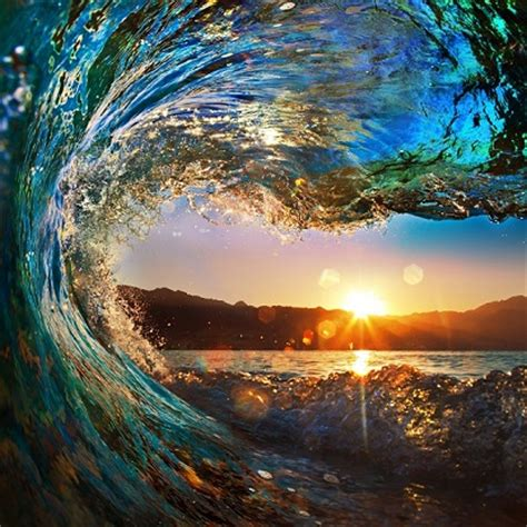 sunset wave | beach and sunset wallpapers | wallpaper ink