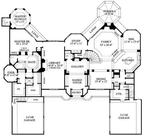 mansion floor plans castle architectural designs