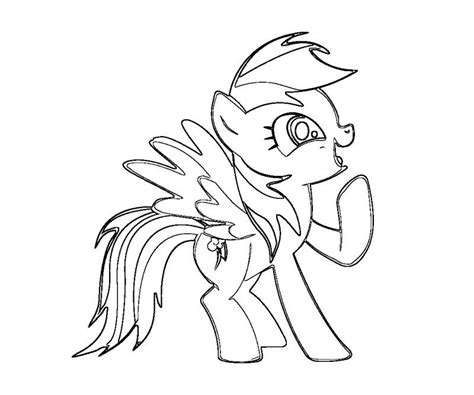rainbow pony coloring pages free coloring pages of my little pony rainbow dash