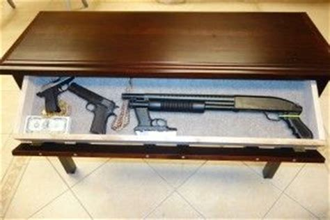 table sofa called 17 best images about gun storage on