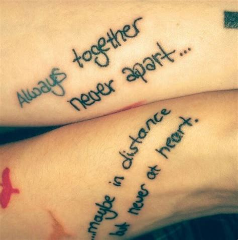tattoo quotes for friends 50 beautiful best friends tattoos designs and ideas 2017