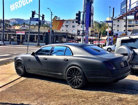 matte black bentley mulsanne matte black bentley mulsanne tuned by rdb