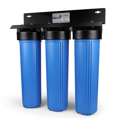 whole house water filtration system ispring 3 stage whole house water filtration system w 20x4 5 in big blue multi layer