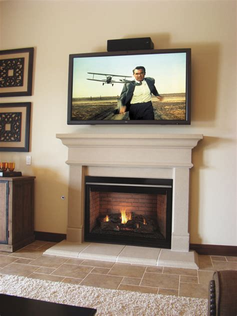 Small Living Room With Center Fireplace Alicante Mantel Traditional Living Room San Diego
