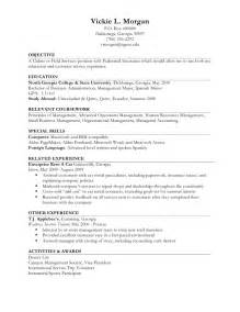 Resume For Work Experience Sample vickie l morgan p o box 490000 dahlonega ge