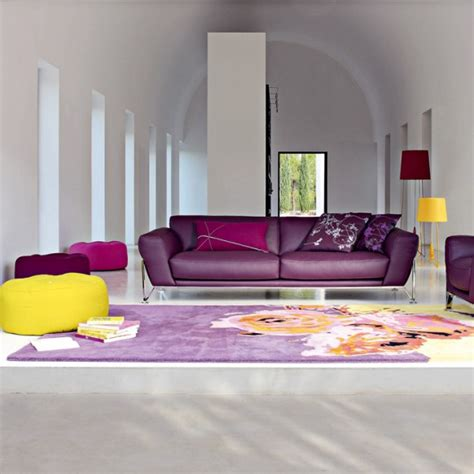 purple color for living room modern living room with purple color 2 dands