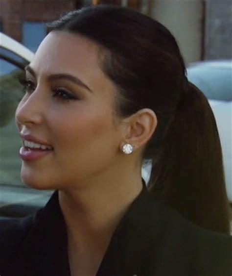 diamond earrings: kim kardashian diamond earrings