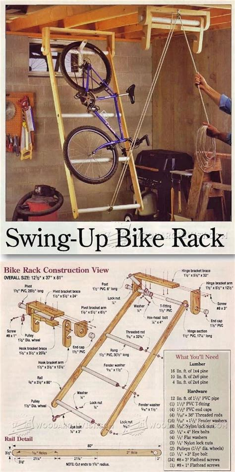Swing Up by Swing Up Bike Rack Woodworking Plans And Projects