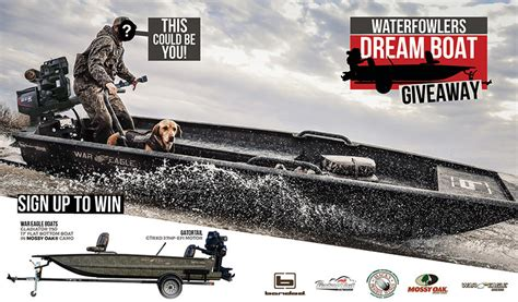 war eagle boats banded edition the waterfowlers dream boat giveaway american sweepstakes